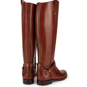Tory Burch Almond Derby Riding Boots